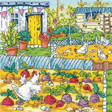 Heritage Crafts Karen Carter Collection Cross Stitch Kit - Vegetable Patch